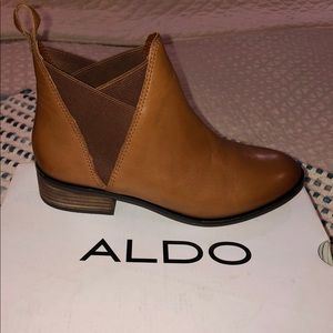 Chelsea style leather booties